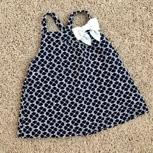 Janie and Jack navy blue and eyelet top, size 3